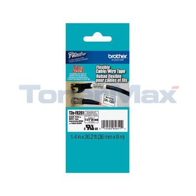 BROTHER TZ ID FLEXIBLE TAPE BLACK ON WHITE 36 MM X 8 M